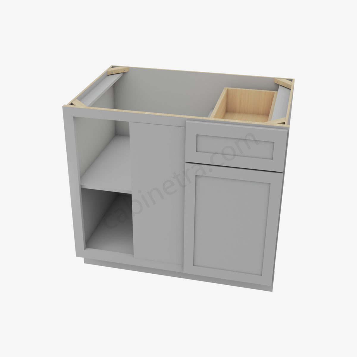 AB BBLC39 42 36W 3 Forevermark Lait Gray Shaker Cabinetra scaled