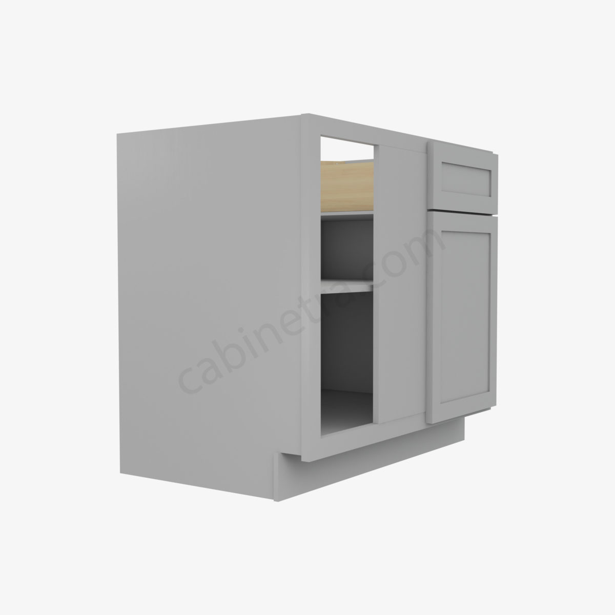 AB BBLC39 42 36W 4 Forevermark Lait Gray Shaker Cabinetra scaled
