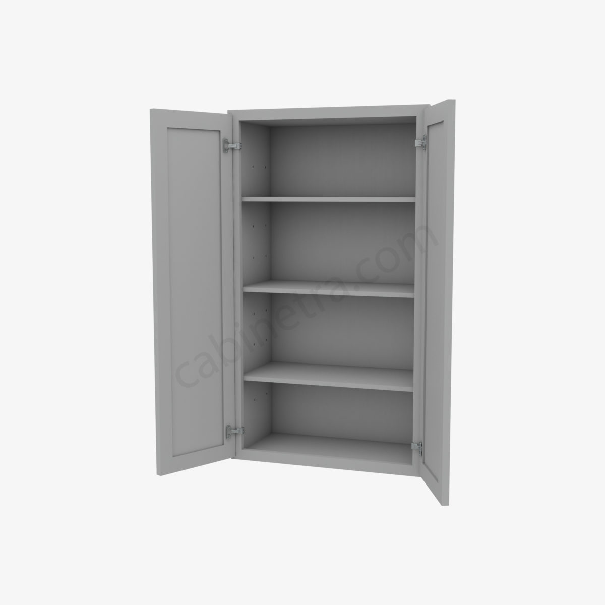 AB W2442B 5 Forevermark Lait Gray Shaker Cabinetra scaled