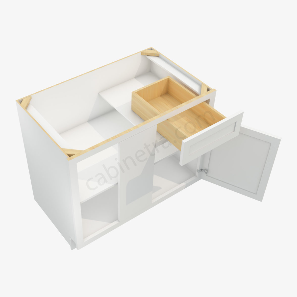 AW BBLC42 45 39W 2 Forevermark Ice White Shaker Cabinetra scaled