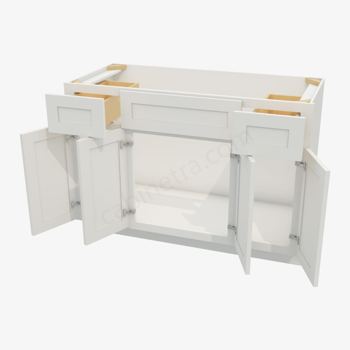 AW S4821B12D 34 5 Forevermark Ice White Shaker Cabinetra scaled